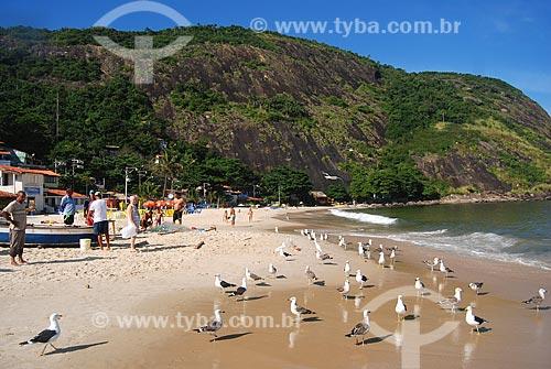 Assunto: Colônia de pescadores na Praia de Itaipú / Local: Niterói - Rio de Janeiro (RJ) - Brasil / Data: 05/2010
