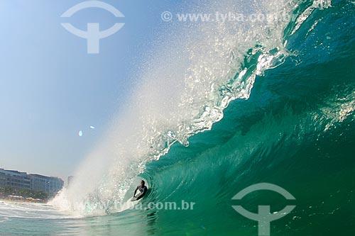 Assunto: Bodyboard na Praia de Ipanema / Local: Ipanema - Rio de Janeiro (RJ) - Brasil / Data: 05/2008