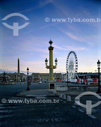 Assunto: Roda Gigante instalada na Place de la Concorde (Praça da Concórdia) / Local: Paris - França - Europa / Data: 12/2008