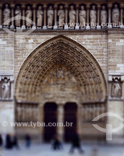 Assunto: Portal do Julgamento - Catedral de Notre Dame (Século XII) / Local: Paris - França - Europa / Data: 01/2009