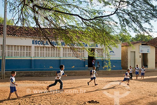 Assunto: Escola Municipal Major Vieira Lima na zona rural da cidade / Local: Serra Talhada - Pernambuco (PE) - Brasil / Data: 08/2012