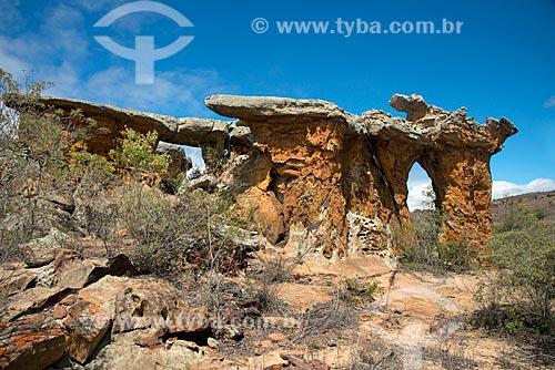 Assunto: Pedra da Igrejinha no Parque Nacional do Catimbau / Local: Buíque - Pernambuco (PE) - Brasil / Data: 08/2012