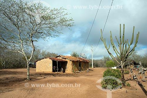 Assunto: Casa do artista popular José Bezerra no Parque Nacional do Catimbau / Local: Buíque - Pernambuco (PE) - Brasil / Data: 08/2012