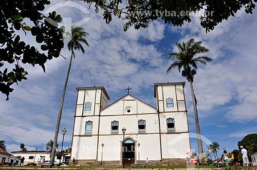 Assunto: Igreja Matriz de Nossa Senhora do Rosário (1761) - é considerada uma das maiores construções de taipa de pilão do Centro-Oeste / Local: Pirenópolis - Goiás (GO) - Brasil / Data: 05/2012