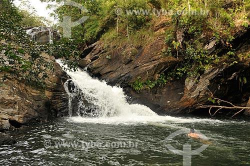 Assunto: Cachoeira Meia Lua - Ribeirão Santa Maria / Local: Pirenópolis - Goiás (GO) - Brasil / Data: 05/2012