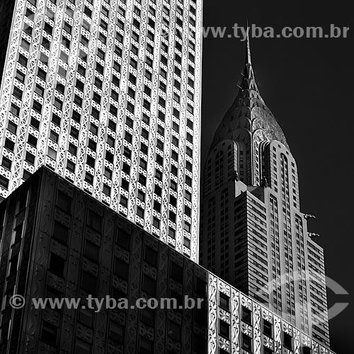 Assunto: Prédios de Nova York - Edifício Chrysler (Chrysler Building) à direita / Local: Nova Iorque - Estados Unidos da América - EUA / Data: 08/2010