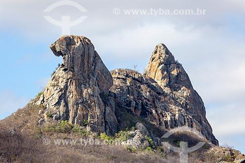 Assunto: Vista da Pedra da Galinha Choca / Local: Quixadá - Ceará (CE) - Brasil / Data: 11/2012