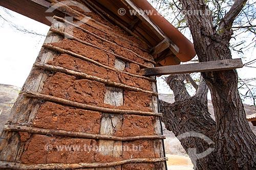 Assunto: Detalhe de casa de Pau a Pique / Local: Quixadá - Ceará (CE) - Brasil / Data: 11/2012