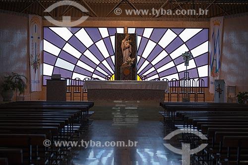 Assunto: Interior do Santuário de Nossa Senhora Imaculada Rainha do Sertão / Local: Quixadá - Ceará (CE) - Brasil / Data: 11/2012