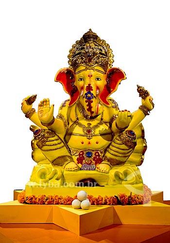Assunto: Figura do Deus Ganesha do Hinduismo - Exposição sobre a Índia no Centro Cultural Banco do Brasil (CCBB) / Local: Rio de Janeiro (RJ) - Brasil / Data: 11/2011