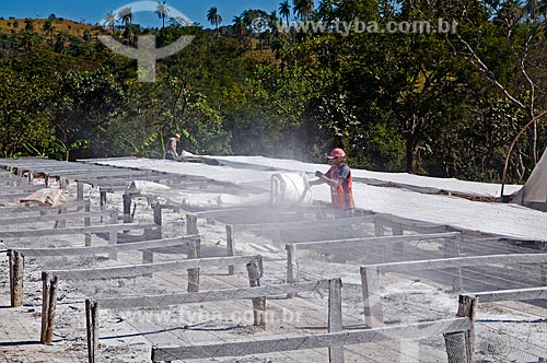Assunto: Fabricação artesanal de polvilho / Local: Perdizes - Minas Gerais (MG) - Brasil / Data: 07/2012