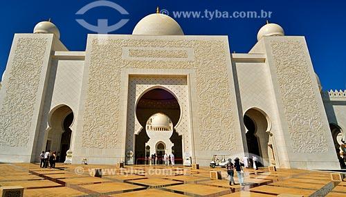 Assunto: Grande Mesquita de Abu Dhabi - Mesquita Sheik Zayed Bin Sultan Al Nathyan - o fundador do Emirados Arabes Unidos / Local: Abu Dhabi - Emirados Árabes Unidos - Ásia / Data: 03/2012