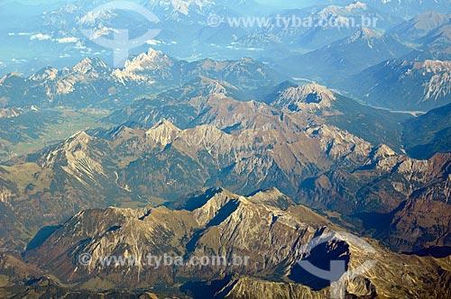 Assunto: Vista aérea dos Alpes Europeus / Local: Próximo ao Distrito de Schwende - Suíça - Europa / Data: 10/2010