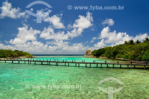 Assunto: Passarela no Sheraton Hotel cruzando o mar / Local: Furanafushi - República das Maldivas - Ásia / Data: 04/2010