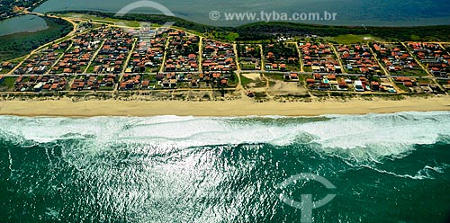 Assunto: Vista aérea de casas na Praia de Guaratiba / Local: Guaratiba - Maricá - Rio de Janeiro (RJ) - Brasil / Data: 07/2010