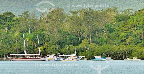 Assunto: Barcos na Praia do Saco do Céu na Enseada da Estrela / Local: Distrito Ilha Grande - Angra dos Reis - Rio de Janeiro (RJ) - Brasil / Data: 07/2012