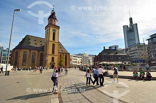 Assunto: Igreja de Santa Catarina - construída em 1681, derrubada na segunda guerra mundial e reconstruída em 1954 / Local: Frankfurt - Alemanha - Europa / Data: 08/2012