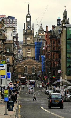 Assunto: Rua West George com a Igreja de São Jorge Tron / Local: Glasgow - Escócia - Reino Unido - Europa / Data: 11/2010