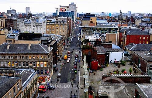 Assunto: Rua Mitchell e vista do centro da cidade / Local: Glasgow - Escócia - Reino Unido - Europa / Data: 11/2010