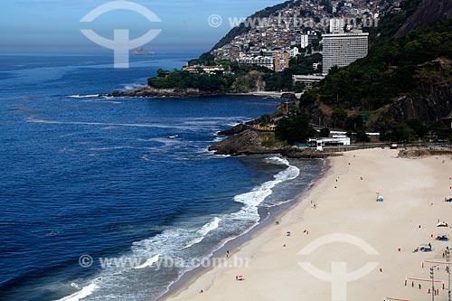 Assunto: Praia do Leblon com Hotel Sheraton e favela do Vidigal ao fundo / Local: Leblon - Rio de Janeiro (RJ) - Brasil / Data: 03/2012