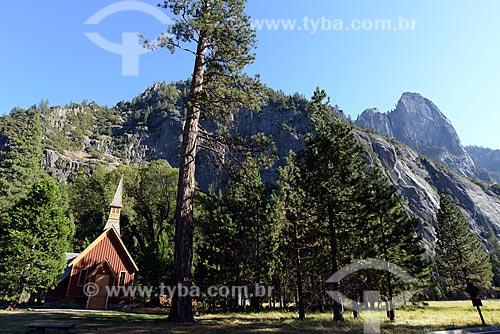 Assunto: Capela (ecumênica) de Yosemite no Parque Nacional de Yosemite / Local: Califórnia - Estados Unidos da América - EUA / Data: 09/2012