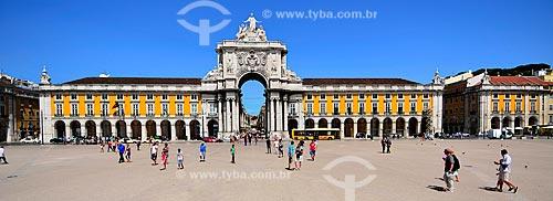 Assunto: Arco da Rua Augusta (1875) - momunento à grandiosidade portuguesa quanto à descoberta de novos povos e culturas / Local: Baixa - Lisboa - Portugal - Europa / Data: 08/2012