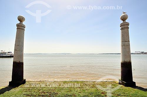 Assunto: Cais das Colunas - importante porto de Lisboa reconstruído em 2008 / Local: Baixa - Lisboa - Portugal - Europa / Data: 08/2012