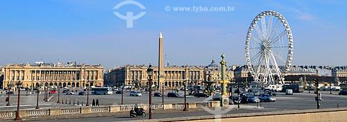 Assunto: Roda Gigante instalada na Place de la Concorde (Praça da Concórdia) / Local: Paris - França - Europa / Data: 02/2012