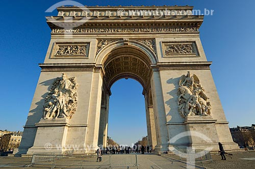 Assunto: Arco do Triunfo (1836) / Local: Paris - França - Europa / Data: 02/2012