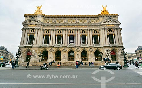 Assunto: Palais Garnier (Ópera Garnier) - 1875 / Local: Paris - França - Europa / Data: 02/2012