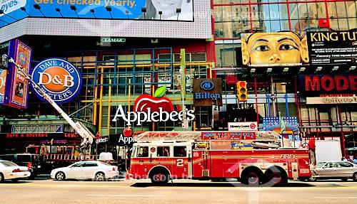 Assunto: Caminhão dos Bombeiros de Nova Iorque na Rua 42 - na região da Times Square / Local: Manhattan - Nova Iorque - Estados Unidos - América do Norte / Data: 08/2010