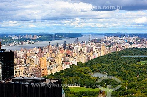 Assunto: Central Park com a Ponte George Washington no fundo / Local: Manhattan - Nova Iorque - Estados Unidos - América do Norte / Data: 09/2010