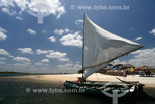 Assunto: Jangada na Lagoa Azul / Local: Jijoca de Jericoacoara - Ceará (CE) - Brasil / Data: 09/2012