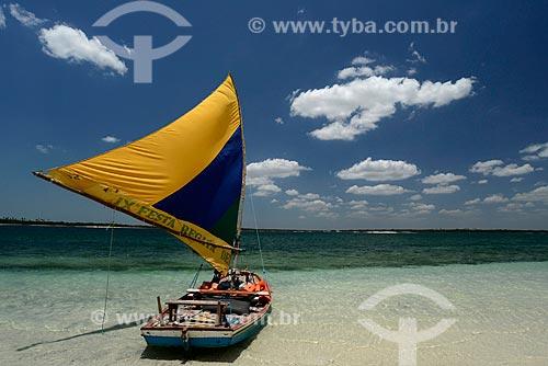 Assunto: Jangada na Lagoa do Paraíso / Local: Jijoca de Jericoacoara - Ceará (CE) - Brasil / Data: 09/2012