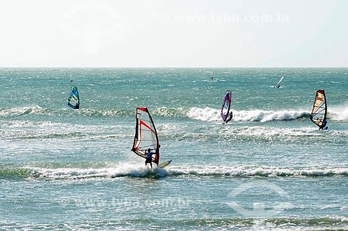 Assunto: Praticantes de windsurf na praia de Jericoacoara / Local: Jijoca de Jericoacoara - Ceará (CE) - Brasil / Data: 09/2012