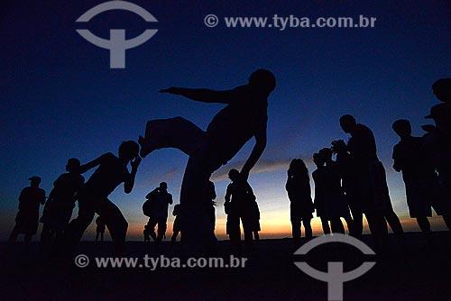 Assunto: Capoeiristas na Praia de Jericoacoara / Local: Jijoca de Jericoacoara - Ceará (CE) - Brasil / Data: 10/2012
