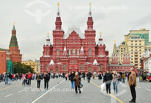 Assunto: Vista geral da Praça Vermelha com o Museu Histórico do Estado da Rússia no fundo / Local: Moscou - Rússia - Europa / Data: 09/2010