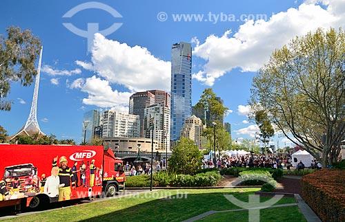 Assunto: Vista do Centro de Artes à partir da Praça da Federação / Local: Melbourne - Austrália - Oceania / Data: 10/2010
