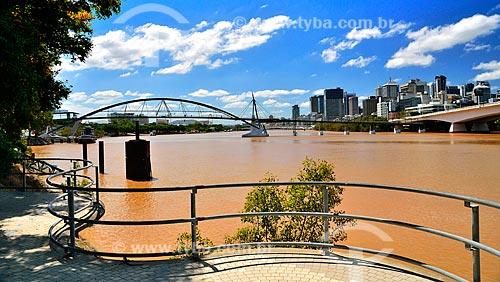 Assunto: Rio Brisbane com a Ponte Goodwill (2001) no fundo / Local: Brisbane - Queensland - Austrália - Oceania / Data: 01/2011