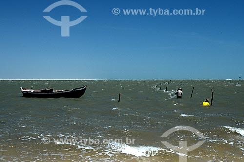 Assunto: Pescadores no rio Preguiças no povoado de Atins / Local: Barreirinhas - Maranhão (MA) - Brasil / Data: 10/2012