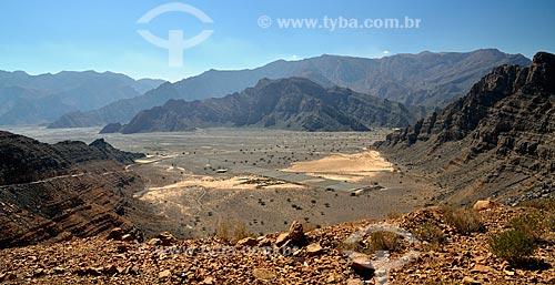 Assunto: Estrada para Khor Najd - importante ponto turístico de Omã / Local: Musandam - Omã - Ásia / Data: 02/2011