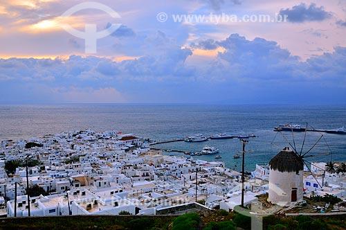 Assunto: Vista da cidade de Hora na Ilha de Míconos / Local: Ilha de Míconos - Grécia - Europa / Data: 04/2011