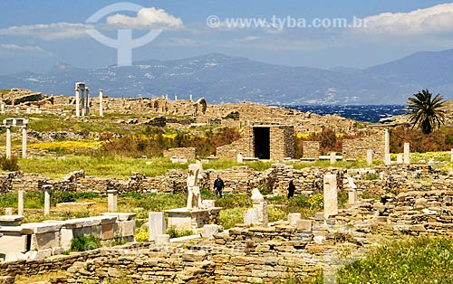 Assunto: Ágora dos Competaliastas / Local: Ilha de Delos - Míconos - Grécia - Europa / Data: 04/2011