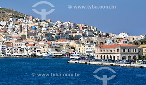 Assunto: Vista da Cidade de Hermópolis, também conhecida como Ermoupolis / Local: Ilha de Siro - Grécia - Europa / Data: 04/2011