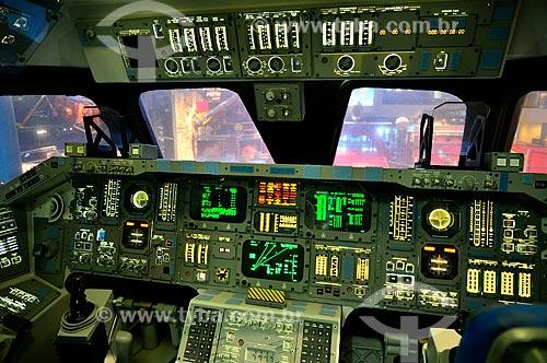 Assunto: Cabine de um ônibus espacial no Centro Espacial Houston / Local: Houston - Texas - Estados Unidos da América - América do Norte / Data: 09/2011
