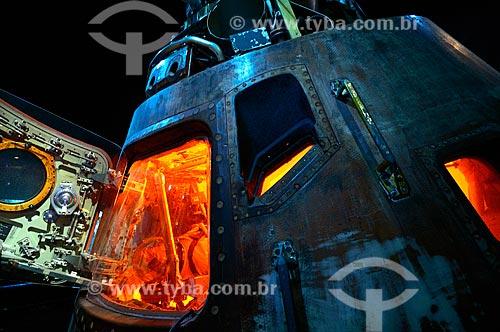 Assunto: Cápsula de Apollo 17 (CM-114) em exposição no Centro Espacial Houston - lançado em 17 de dezembro de 1972 / Local: Houston - Texas - Estados Unidos da América - América do Norte / Data: 09/2011