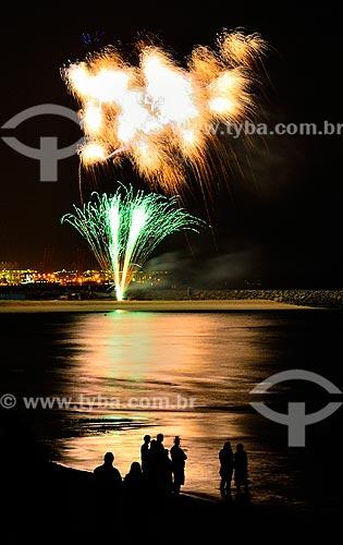 Assunto: Festa de Ano Novo com fogos de artifícios na Marina de Dubai / Local: Dubai - Emirados Árabes Unidos - Ásia / Data: 12/2011