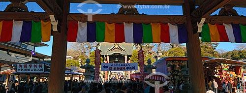 Assunto: Portão do Templo Shinshogi / Local: Narita - Chiba - Japão - Ásia / Data: 01/2012
