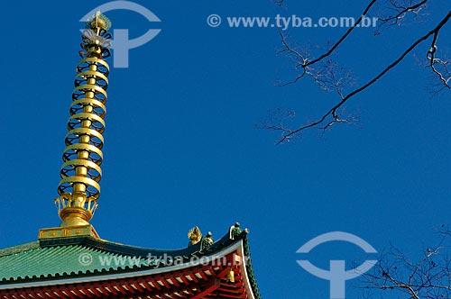 Assunto: Detalhe do Pagode Três Andares no Templo Shinshogi / Local: Narita - Chiba - Japão - Ásia / Data: 01/2012