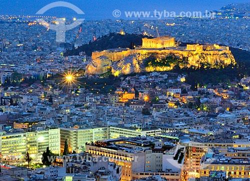 Assunto: Acrópole vista do Monte Licabetos / Local: Atenas - Grécia - Europa / Data: 04/2011